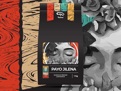 PAYO JILENA COFFEE BEANS PACKAGING retro packaging design packaging package design illustration design coffee branding coffee beans coffee classic branding