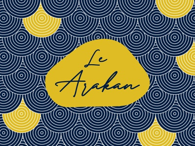 LE ARAKAN Logo With Background Concept packaging packaging design illustration design branding logodesign typography logo