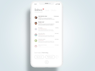 Email app client mockup