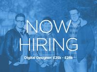 Now Hiring a Digital Designer