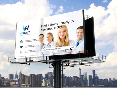Branding VigHealth designer branding health logo design