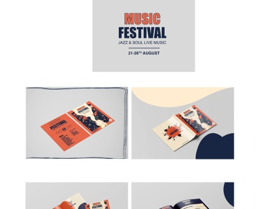 Music Festival Jazz and Soul Live Music poster festival poster festival brochuredesign logo brochure typography illustration art design