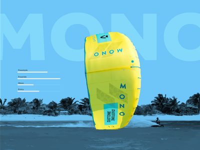 Duotone Kitesurf Design illustraion surf web ui vector kitesurfing kitesurf duotone illustrator