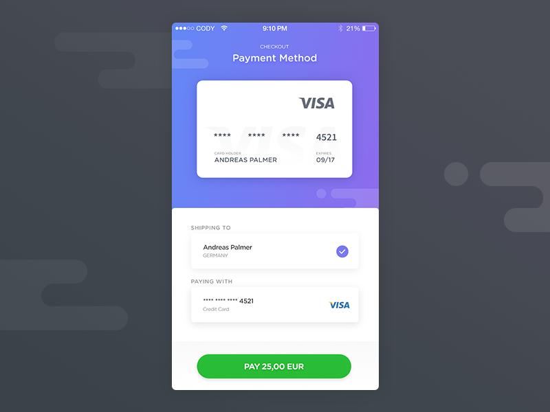 Credit Card Checkout Page - 002 dailyui visa paypal app ux ui payment checkout card credit creditcard