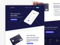 Coin - Financial Website Landing Page