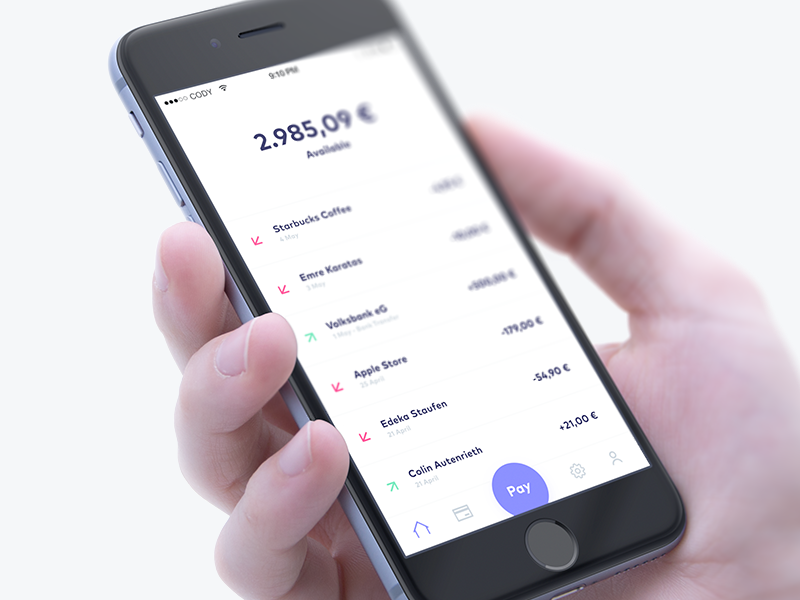 Dribbble  coin app home