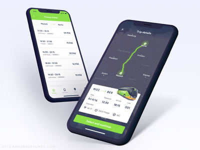 FlixBus App Redesign Concept - 002 debut navigation map search dribbble iphone iphone x ux ui app travel flixbus