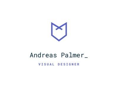 Personal Identity 🦊 logo debut branding design identity freelance designer visual typography fox andreas palmer