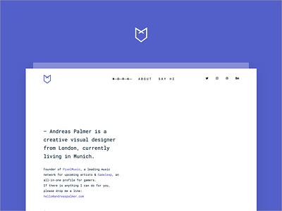 Portfolio Redesign/2018 🦊 logo andreas palmer fox typography visual designer freelance identity design portfolio