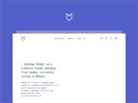 Portfolio Redesign/2018 🦊