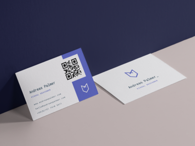 Personal business cards print business cards andreas palmer fox typography visual designer freelance identity design branding