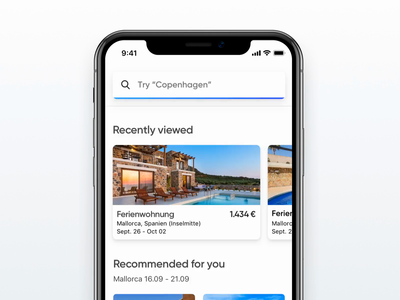 Search bar Interaction 🕵️ search bar interaction ai uix dailyui sketch travel animation engine search iphone flat design ios app ux ui