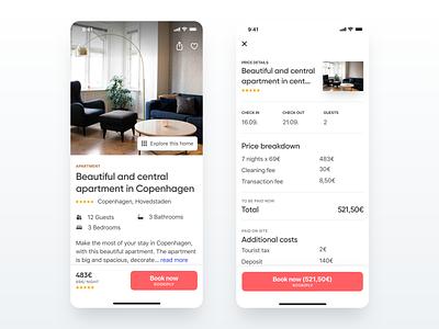 Vacation home details startup travel app travel holiday minimal minimalism vacation home vacation details booking app booking app concept apartment flat dailyui design ios app ux ui