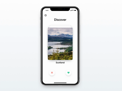 Tinder ⨉ Travel Concept 🍑 iphone x after effects flat design app ux ui app concept dailyui iphone ios app design micro interaction interaction transitions gesture matching travel app travel tinder