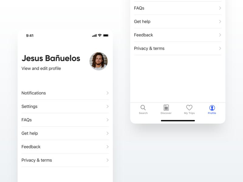 Minimalistic Profile Page 🌵 white sketch apple profile page user account user profile minimalism minimalist minimal app minimal flat dailyui design ios app ux ui