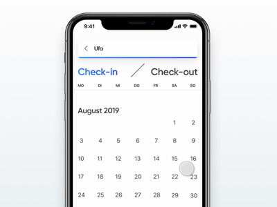 Calendar and Guest selector interaction dailyui micro micro animation micro interaction microinteraction uix vacation holidu travel guest picker date picker guest calendar interaction animation interaction design ios app ux ui
