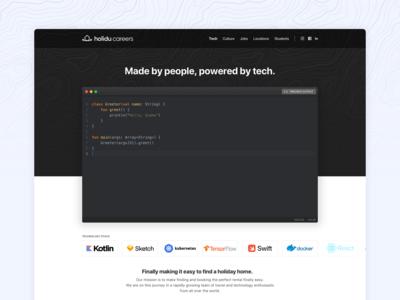 Tech Landing Page 🖥