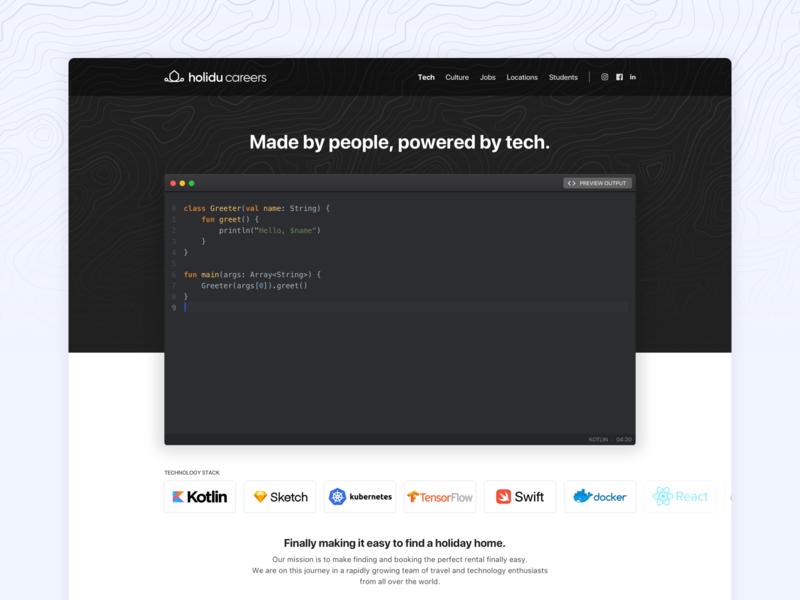 Tech Landing Page 🖥 branding travel illustration design sketch editor code technology tech landing page ux design ui design uiux ui