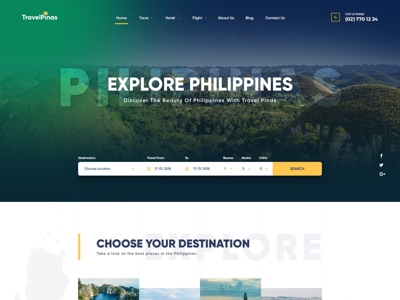 Travel Agency Website >> Travel Agency Web Design Concept By Jim Tobeo On Dribbble