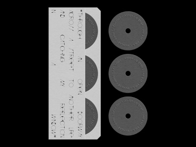Disk black and white brutalism typography typeface type grayscale emboss monochrome print print design minimal simple poster a day poster art graphic photoshop graphic design design poster design poster