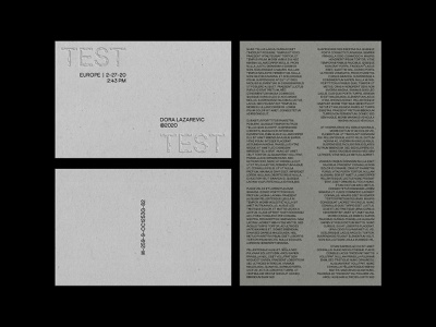 Test texture typography typeface type embossed brutalism grayscale monochrome print print design minimal poster a day simple poster art graphic graphic design photoshop design poster design poster
