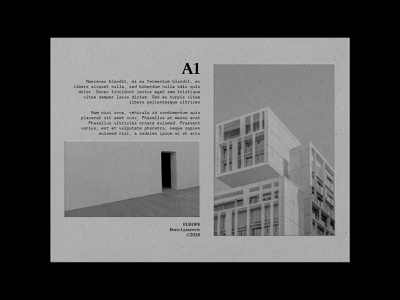 A1 print design architecture brutalism monochrome grayscale embossed photography typography typeface type simple minimal design graphic graphic design poster a day poster art photoshop poster design poster