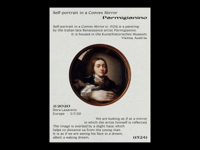 The Mirror layout plakat print design print portrait classical painting typography typeface type minimal simple photoshop graphic design design graphic poster a day poster art poster design poster