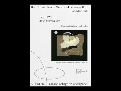 Big thumb. Beach. Moon and decaying bird layout concept surealism typography typeface type plakat painting print print design poster a day minimal simple poster art design photoshop graphic graphic design poster design poster