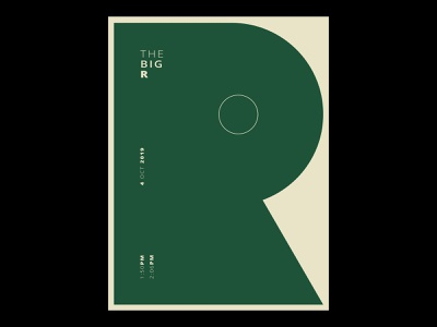The Big R photoshop vintage art deco simple poster design poster art poster lettering minimal bold font design geometric design geometric bauhaus graphic design graphic type design type art typography typeface