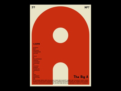 The Big A №2 minimal art print print design print geometric art deco typography typeface type photoshop vector graphic design graphic design illustration simple poster a day poster art poster design poster