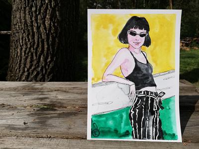 сістер <3 girl portrait portrait painting traditional art girl ukraine art illustration portrait painting small format watercolor