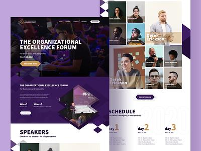 Excellence Forum Landing Page Design nonprofits website web landing page