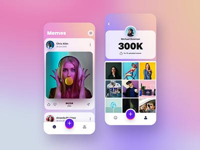 Social App - Feed & Profile social network memes social app mobile