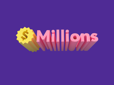 Millions logo ui logo design