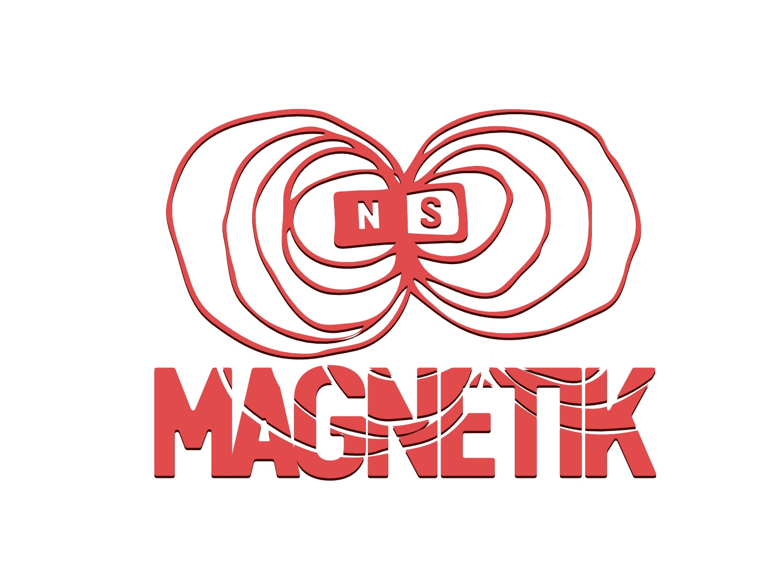 Magnetik magnetic magnet design vector logo brand