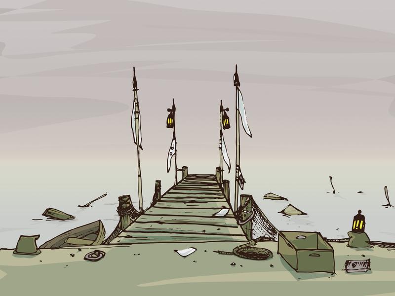 Forgotten Deck vector illustration
