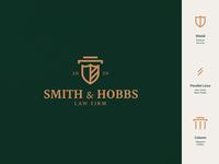Smith & Hobbs - Law Firm law firm logo vector flat typography mark logo design visual identity minimalism elegance lawyer law firm law brand identity logo branding