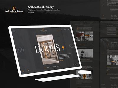 Arhitectural Joinery - Corporate website web design website designer desktop webdesign ux typogaphy product design animation ui design branding