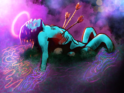 Strawberry Fields Forever concept art psychedelic digital illustration digital painting comic art comic