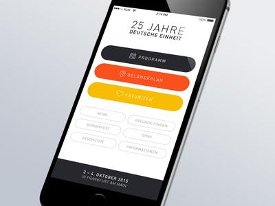 """Festival App """"25 Jahre Tag der Deutschen Einheit"""""""