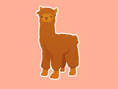 Fluffy Little Alpaca