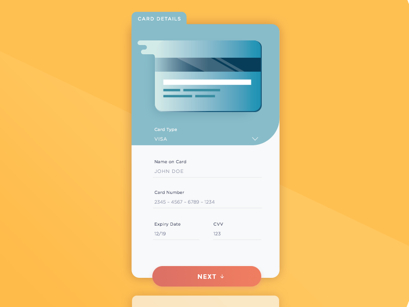 Credit Card Checkout – Daily UI 002  mobile illustration flat dailyui checkout challange cards app