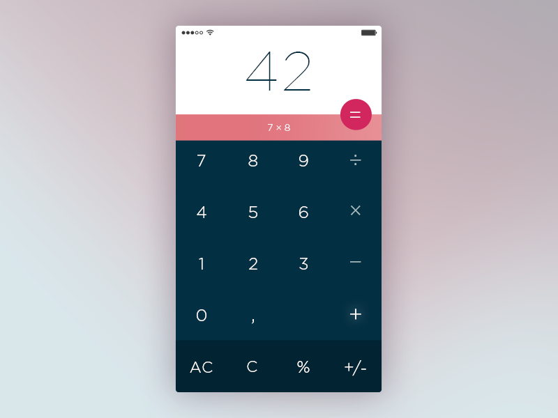 Calculator – 004 Daily UI  minimal flat dailyui calculator