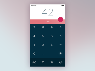 Calculator – 004 Daily UI