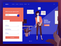 Daily UI #003 – Jobs Landing Page