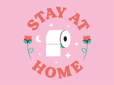 Stay At Home texture vector illustrator illustration toilet paper toilet roll virus covid-19 covid 19 covid19 coronavirus stay at home