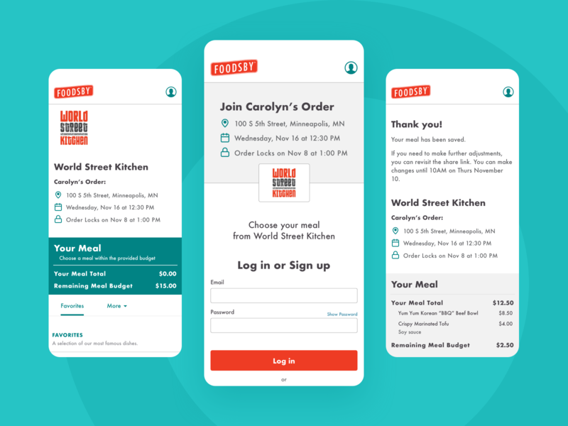 Foodsby Case Study case study product design mobile app mobile ui food delivery food app delivery app