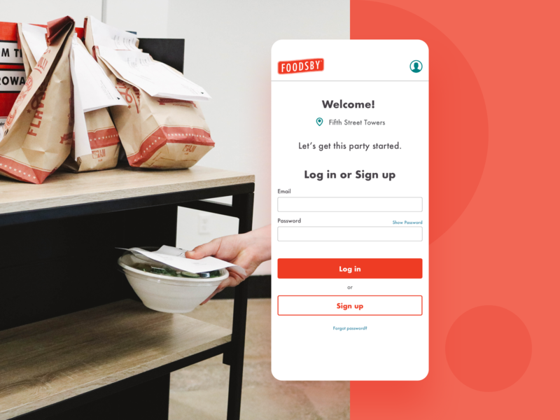 Foodsby Case Study case study product design mobile ui mobile app food app food delivery app food delivery