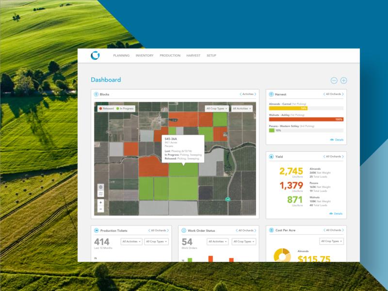 Conservis Case Study case study product design widgets ux ui dashboad farming agriculture ag tech farm management