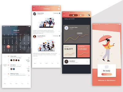 Mobile Application design ui ux app photoshop icon illustration design